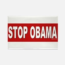 Stop Obama Rectangle Magnet
