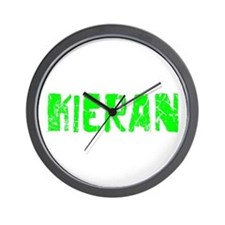 Kieran Faded (Green) Wall Clock