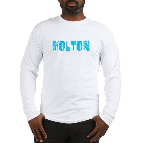 Kolton Faded (Blue) Long Sleeve T-Shirt