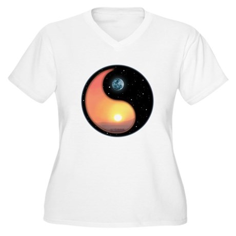 Night and Day Women's Plus Size V-Neck T-Shirt