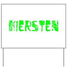 Kiersten Faded (Green) Yard Sign
