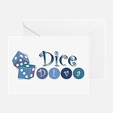 Dice Diva Greeting Card