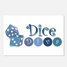 Dice Diva Postcards (Package of 8)