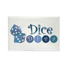 Dice Diva Rectangle Magnet (10 pack)