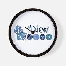 Dice Diva Wall Clock