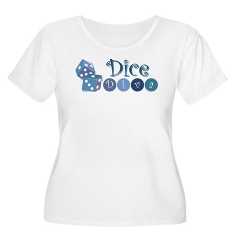 Dice Diva Women's Plus Size Scoop Neck T-Shirt