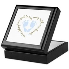 Adding Two Feet (blue) Keepsake Box