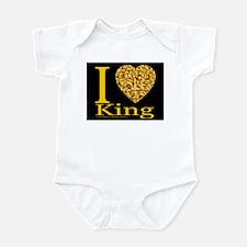 I (Heart) King Infant Creeper