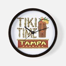 Tampa Tiki Time - Wall Clock