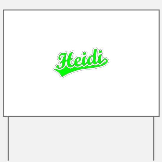 Retro Heidi (Green) Yard Sign