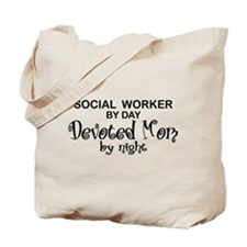 Social Worker Devoted Mom Tote Bag