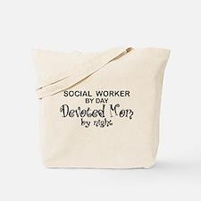 Social Worker Devoted Mom Tote Bag