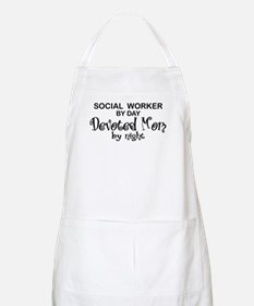 Social Worker Devoted Mom BBQ Apron