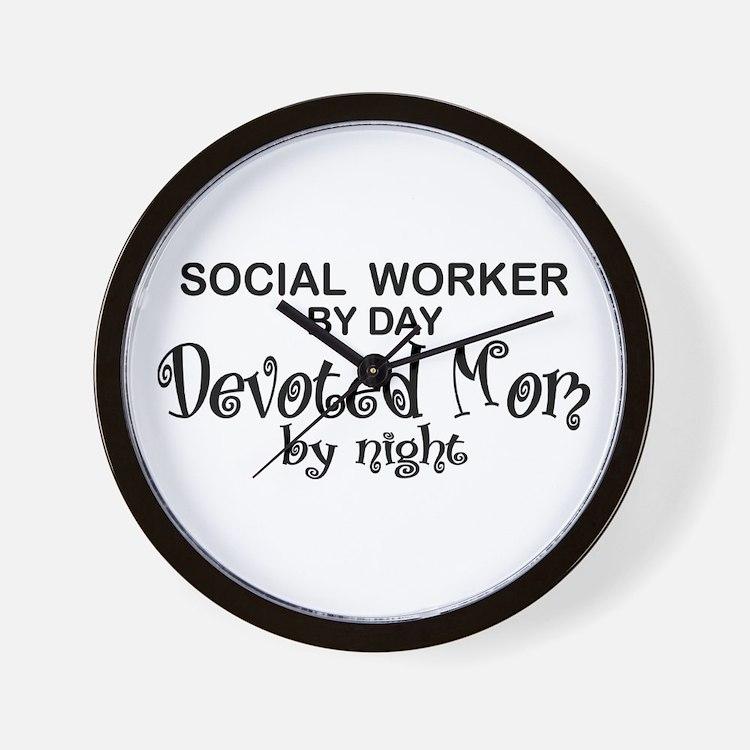 Social Worker Devoted Mom Wall Clock
