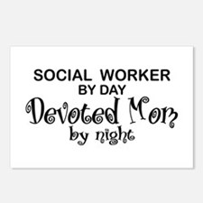 Social Worker Devoted Mom Postcards (Package of 8)