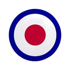 "RAF Roundel 3.5"" Button"