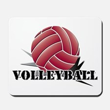 Volleyball starburst red Mousepad