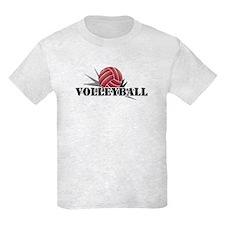 Volleyball starburst red T-Shirt