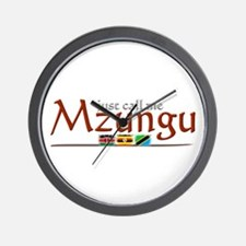 Just Call Me Mzungu - Wall Clock