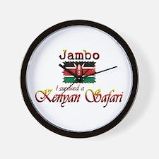 Survived a Kenyan Safari - Wall Clock
