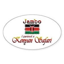 Survived a Kenyan Safari - Oval Decal