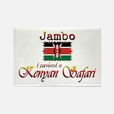 Survived a Kenyan Safari - Rectangle Magnet