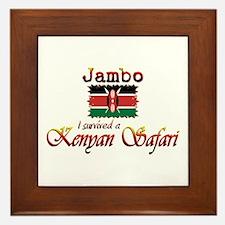 Survived a Kenyan Safari - Framed Tile