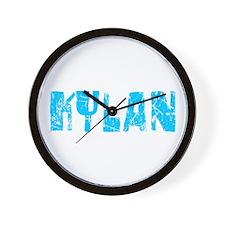 Kylan Faded (Blue) Wall Clock