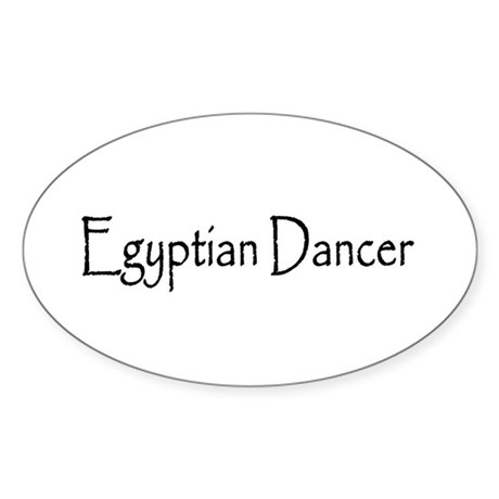Egyptian Dancer Oval Sticker