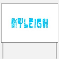 Kyleigh Faded (Blue) Yard Sign