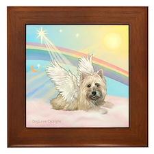 Angel / Cairn Terrier(w) Framed Tile