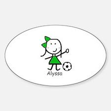 Soccer - Alyssa Oval Decal