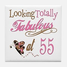 Fabulous 55th Tile Coaster