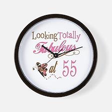 Fabulous 55th Wall Clock