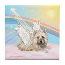 Angel / Cairn Terrier(w) Tile Coaster