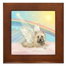 Angel / Cairn Terrier(w) Framed Tile