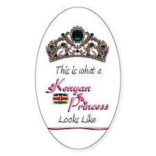 Kenyan Princess - Oval Decal