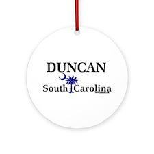 Duncan South Carolina Ornament (Round)