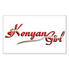 Kenyan Girl - Rectangle Decal