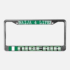 Naija 4 Life - NIGERIA - License Plate Frame