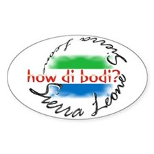 How di bodi? - Oval Decal