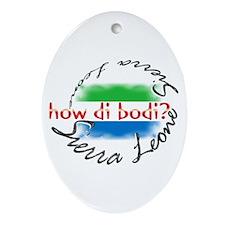 How di bodi? - Oval Ornament