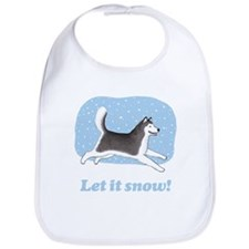 Siberian Husky Let it Snow Bib
