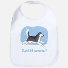 Siberian Husky Let it Snow Bib