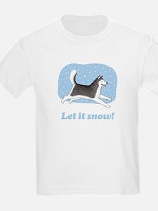 Siberian Husky Let it Snow T-Shirt