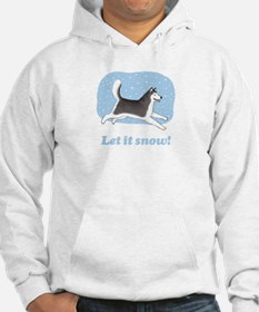 Siberian Husky Let it Snow Hoodie