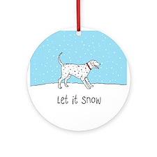 Let It Snow Dalmatian Ornament