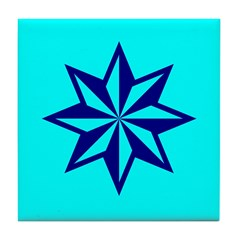 Blue Guiding Star Tile Coaster