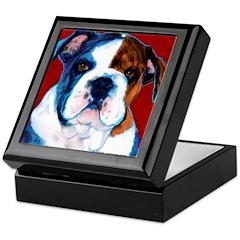Bulldog Puppy Keepsake Box