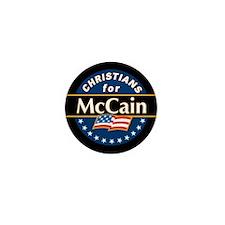 Christians for McCain Mini Button